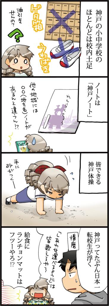 【神戸・阪神(エピソードマンガ4コマ)】神戸の常識