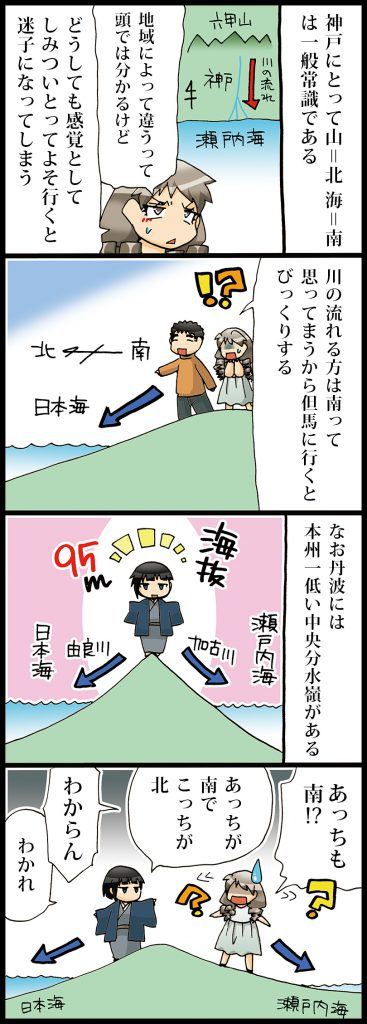 【丹波(エピソードマンガ4コマ)】水分れ